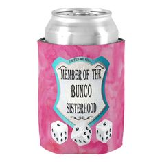 Keep your canned beverage cool while your rolling the dice at your next Bunco girls night out. Roll The Dice With Your Bunco Sisterhood Can Cooler Bunco Prizes, Bunco Game, Bunco Party Themes, Bunco Ideas, Party Ideas, Gift Ideas, Bunco Gifts, Mini Alcohol Bottles, Christmas Deco