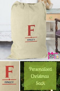 A personalised Christmas Sack that is perfect for holding all those Christmas Gifts from Santa. Ideal as a Christmas Decoration too, this charming Christmas Sack will appear year after year