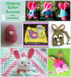 Bunny Rabbits, to me, are a sure sign of spring. When I see them hopping around and nibbling on blades of grass, I know that warmer weather is right around the corner. Mini Bunny b… Crochet Round, Crochet For Kids, Free Crochet, Crochet Hats, Easter Dyi, Spring Sign, Fun Projects, Free Pattern, Crochet Patterns