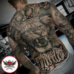 Troy Tuck did this amazing back piece with #magnumtattoosupplies #backpiece #inkedup #tattooreveumag #ink