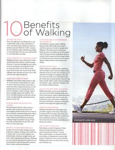 1O Benefits of Walking..