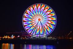 The Great Wheel of Seattle. Photo by Chuck Hilliard. Click on the image. Looks super cool when enlarged!