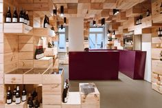 The Albert Reichmuth Wine Store Design by OOS - Architecture & Interior Design Ideas and Online Archives | ArchiiiArchiii