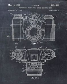 Patent Print of a Photographic Camera Patent Art Print Patent Poster #patentdrawing