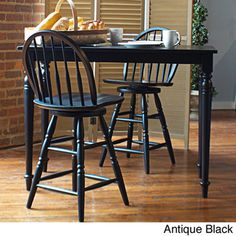 @Overstock.com - Morgan Bar Table - For rooms that are limited on space, this bar-height table and chairs is a lifesaver. This pub-style set is crafted from durable wood, veneer, and MDF materials in your choice of colors and has a distressed look that is achieved through hand finishing.   http://www.overstock.com/Home-Garden/Morgan-Bar-Table/8066319/product.html?CID=214117 $190.79