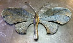 Large metal butterfly sculpture  48 by NorthernCrescentIron, $2949.00