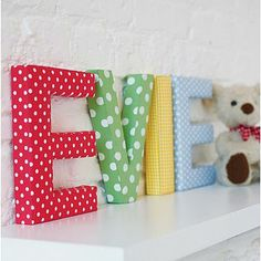 fabric letters for kids room