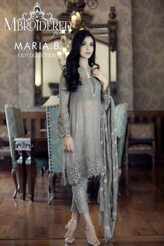 2015 Mbroidered Eid Maria B Dresses