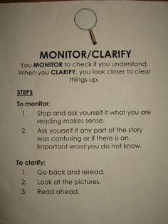 Monitor/Clarify @Margaret Hoang