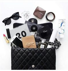Chanel Handbags and more . What In My Bag, What's In Your Bag, My Bags, Purses And Bags, Inside My Bag, What's In My Purse, Purse Essentials, Louis Vuitton Monogram, Louis Vuitton Damier