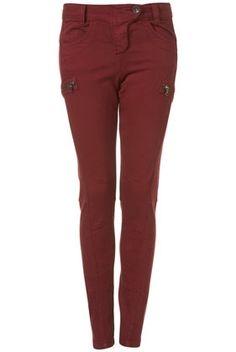 Burgundy Skinny Trouser - StyleSays
