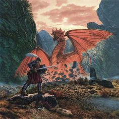 Steve Read Photograph - The Red Dragon Awakens by Steve Read Fantasy Creatures, Mythical Creatures, High Fantasy, Fantasy Art, Dragon Garden, Dragon's Lair, Dragon Images, Legends And Myths, Dragon Artwork