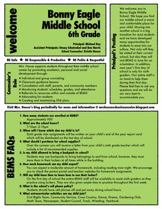 Welcome Incoming 6th Grade Families! | Mrs. House's School Counseling Blog