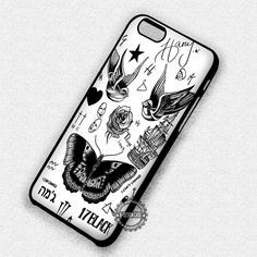 Tattoo Art Harry Styles One Direction - iPhone 7 6s 5c 4s SE Cases & Covers
