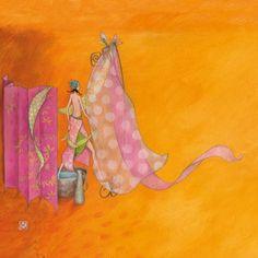 """Gaëlle Boissonnard square card (14 cm) """"La fille au dos nu"""""""