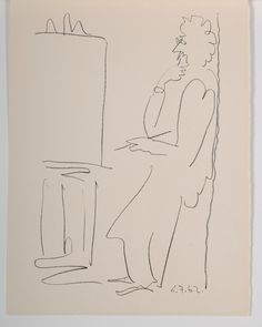 Pablo Picasso | The Artist at his Easel (1962) | Available for Sale | Artsy