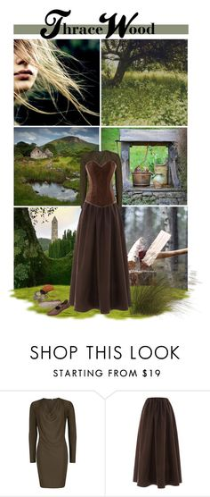 """""""Thrace Wood"""" by savagedamsel ❤ liked on Polyvore featuring Isa Arfen, ANNA, fantasy, books, characters, medieval and riyria"""