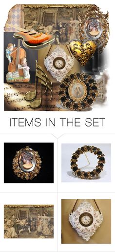 """""""Rococo Rock ~Love of Music"""" by pattysporcelainetc ❤ liked on Polyvore featuring art and vintage"""
