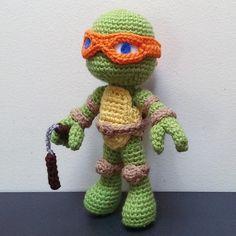 Michaelangelo The turtle Ninja - Free Amigurumi Pattern here: http://sirpurlgrey.deviantart.com/art/Michaelangelo-Crochet-476602852