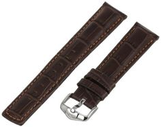 Hirsch 025280-10-20 20 -mm  Genuine Calfskin Watch Strap -- This is an Amazon Associate's Pin. Locate the item on Amazon website simply by clicking the VISIT button