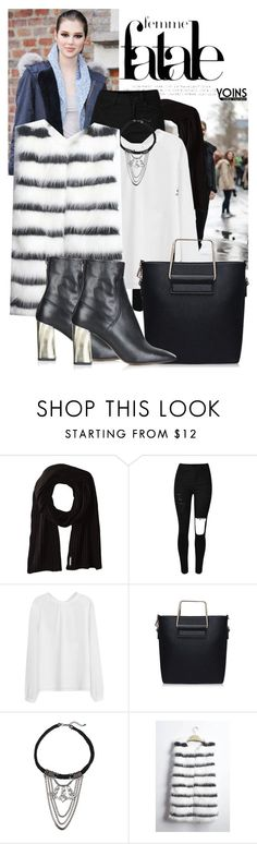 """""""femme fatale with Yoins"""" by black-eclipse-red-sky ❤ liked on Polyvore featuring Soia & Kyo, Topshop and yoins"""