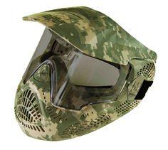 Tippmann US Army Ranger Performance Paintball Mask - Camo Paintball Field, Paintball Gear, Us Army Rangers, Army Camouflage, Digital Camo, Air Rifle, Airsoft, Guns, Sports