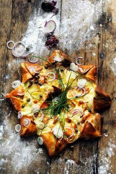 Pizza étoile des neiges ! Parce que j'aime toujours m'amuser en cuisine !