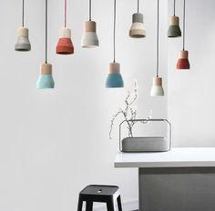 Toro Concrete Wooden Minimalist Pendant Light #ceiling-light #clean #concrete