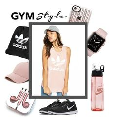 """""""Gym Style"""" by monique-joanne ❤ liked on Polyvore featuring adidas, Casetify, NIKE, Sole Society, PhunkeeTree, adidas Originals and gymessentials"""