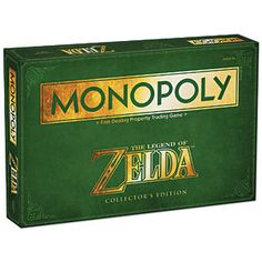 The Legend of Zelda Monopoly takes players on a trip through time as they travel through the land of Hyrule and beyond.