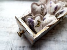 Lavender heart sachets wedding favors decor от HandyHappyHearts