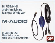 Bir USB/Midi arabirimi için ne lazımsa, O'nda var. http://www.gitarpazar.com/M-AUDIO-Usb-Uno-1-in-1-out-USB-1x1-Midi-Arabirim