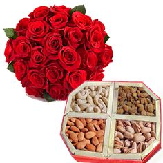 Shop2AP.com offers you this dry fruit combo with roses and dry fruits. Send this combo to your Beloved and make them happy.