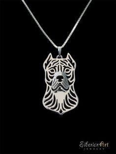 Perro de presa canario  sterling silver