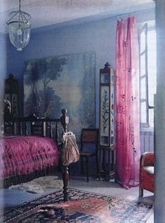 Dreams unwind, Love's a state.. of mind. Gypsy Blue Bedroom.