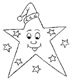 Estrellas de Navidad para Colorear (9)