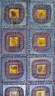 Tiles by Ferreira da Silva - SECLA. Mosaic Tiles, Mosaics, Indian Patterns, Portugal, Tile Patterns, Pottery Art, Coasters, Spain, Vintage