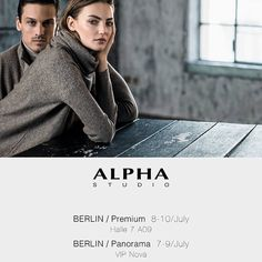 #AlphaStudio is in Germany! Discover our Spring Summer 2016 Collections @ Panorama and @ Premium Berlin   #ss2016 #berlin #tradeshow #fashionfair #fashionshow #fashion #knitwear #womenswear #menswear #florence #glamour #style #stylish #stylishoutfit #womensfashion #womenstyle #gauge #yarn #color