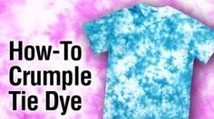how to tie dye a shirt - YouTube More