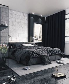 Minimalist Bedroom 609323024574457678 - 50 Mens Bedroom Ideas Masculine Interior Design Inspiration 26 Source by Interior Design Trends, Interior Design Minimalist, Apartment Interior Design, Interior Design Inspiration, Design Ideas, Minimalist Bedroom, Black Interior Design, Bedroom Inspiration, Minimal Design