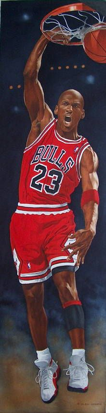 Michael Jordan painting by the artist GLEN GREEN : http://www.glengreen.ca/