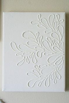 DIY canvas glue art