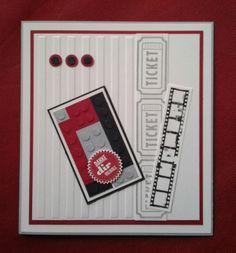 Stampin Up Take a Ticket Sprüchefeuerwerk Starburst Streifen Stripes Schwarz Basic Black Schiefergrau Glutrot Real Red