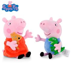 New Toys - 19cm Original Peppa Pig Plush kids Dolls Toys George Family Stuffed Animals GREAT BUY!! $8.00!! PEPPA PIG STUFFED ANIMALS!! www.Dealz360bargains.com