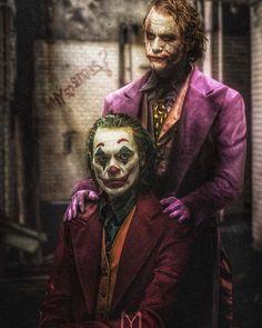 Who's your favourite Joker? Repost I still haven't seen the Joker movie lol. Heath Joker, Le Joker Batman, Batman Joker Wallpaper, Joker Y Harley Quinn, Joker Iphone Wallpaper, Joker Wallpapers, Gotham Batman, Batman Art, Batman Robin
