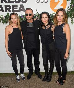Reunited: The group were thrilled to return to the stage as The Corrs again for the first time since 2005 and are planning a new record