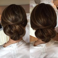 Wedding updo | chignon basso #lovely #wedding #updo #low #clean #fresh #sophisticated #weddings #lakecomo #bridalhair #weddingsinitaly #hairstyle #lowbun #acconciaturasposa #capellisposa #sposa #beauty