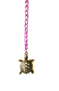 Turtle Statement Charm Necklace  Bronze Turtle by dangleandjangle