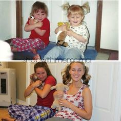 Hilarious Photo Recreations From Then To Now! Tip: Funniest thing I've seen all day! Shared by @PamelaMKramer