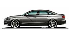 Audi A6 Design Drawing